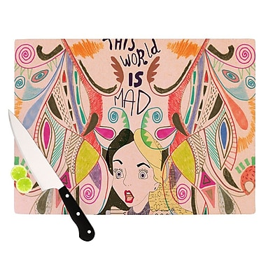 KESS InHouse Alice in Wonderland Cutting Board; 8.25'' H x 11.5'' W x 0.25'' D