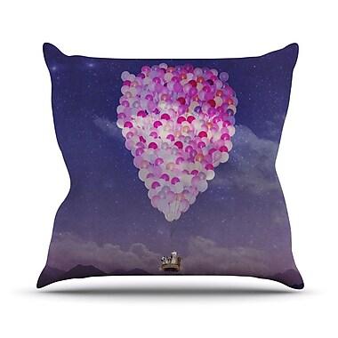 KESS InHouse Never Stop Exploring IV Throw Pillow; 16'' H x 16'' W