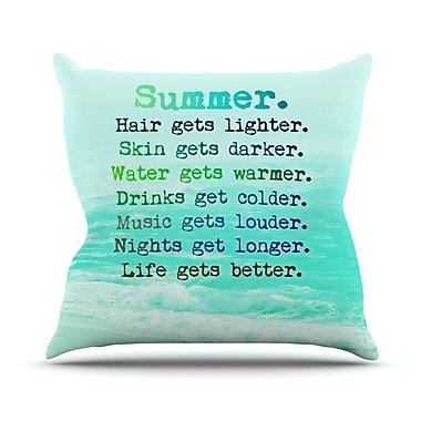 KESS InHouse Summer XXL Throw Pillow; 20'' H x 20'' W