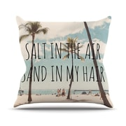KESS InHouse Salt in The Air Throw Pillow; 18'' H x 18'' W