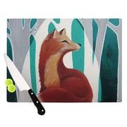 KESS InHouse Fox Forest Cutting Board; 8.25'' H x 11.5'' W x 0.25'' D
