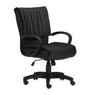 Mayline Mid-Back Leather Office Chair