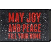 Artistic Reflections Just Sayin 'May Joy and Peace Fill Your Home' by Tonya Textual Plaque