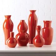 Twos Company 6 Piece Vase Set; Persimmon