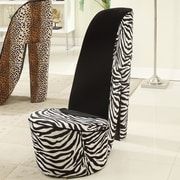 Williams Import Co. Zebra High Heel Chair