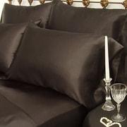 Scent-Sation Charmeuse Satin King Pillow Case (Set of 2); Black