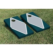 Victory Tailgate Diamond Matching Version 2 Cornhole Boards Game Set; Gray / Midnight Green