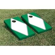 Victory Tailgate Diamond Matching Version 2 Cornhole Boards Game Set; White / Light Green