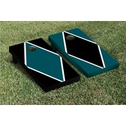 Victory Tailgate Diamond Alternating Cornhole Boards Game Set; Midnight Green / Black