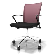 Mayline Valore Training Series Height Adjustable Task Chair; Red