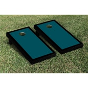 Victory Tailgate Border Matching Version 2 Cornhole Boards Game Set; Midnight Green / Black