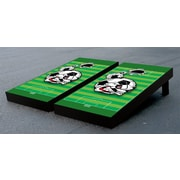 Victory Tailgate Soccer Field Themed Cornhole Bag Toss Game Set