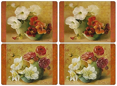 Pimpernel Floral Offering Placement Set of 4