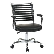 Ave Six Randal Adjustable Mid-Back Task Chair with Arms; Black