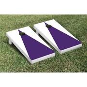 Victory Tailgate Matching No Stripe Version 1 Cornhole Boards Game Set; White / Purple