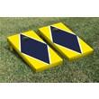 Victory Tailgate Diamond Matching Version 1 Cornhole Boards Game Set; Bright Yellow / Navy Blue