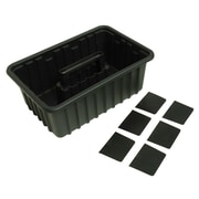HOMAK Plastic Tote Tray with 6 Dividers