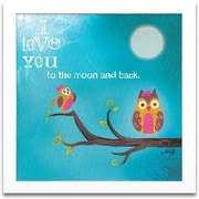 Timeless Frames I love You to the Moon and Back Framed Textual Art