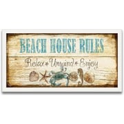 Timeless Frames Beach House Welcome Framed Textual Art