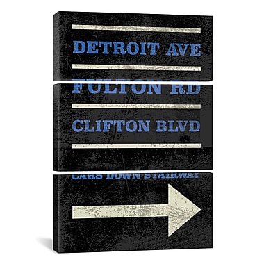 iCanvas Erin Clark Cleveland 3 Piece Graphic Art on Wrapped Canvas Set; 60'' H x 40'' W x 0.75'' D