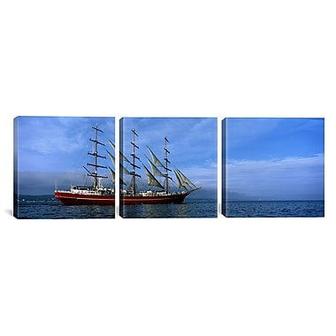 iCanvas Tall Ships Photographic Print on Canvas; 16'' H x 48'' W x 1.5'' D