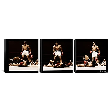 iCanvas Muhammad Ali Vs. Sonny Liston 3 Piece Photographic Print on Wrapped Canvas Set