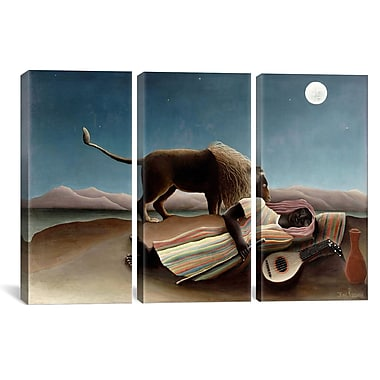 iCanvas Henri Rousseau Sleeping Gypsy 3 Piece Painting Print on Wrapped Canvas Set