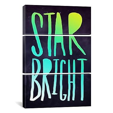 iCanvas Leah Flores Star Bright 3 Piece Textual Art on Wrapped Canvas Set; 90'' H x 60'' W x 1.5'' D