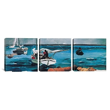 iCanvas Nassau by Winslow Homer 3 Piece Painting Print on Wrapped Canvas Set
