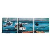 iCanvas Winslow Homer Nassau 3 Piece on Wrapped Canvas Set; 24'' H x 72'' W x 1.5'' D