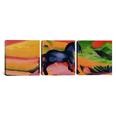 iCanvas Franz Marc Little Blue Horse 3 Piece on Wrapped Canvas Set; 24'' H x 72'' W x 1.5'' D