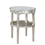 Elegant Lighting Florentine End Table; Silver & Antique Mirror