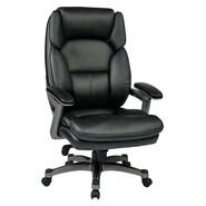 Office Star Work Smart Executive Chair; Black/Titanium