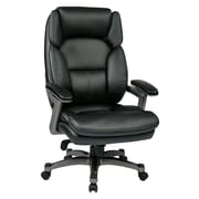 Office Star Work Smart Executive Chair; Black/Titanium