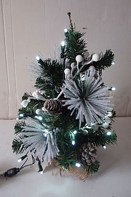 Queens of Christmas 18'' Decorated Flocked Christmas Tree