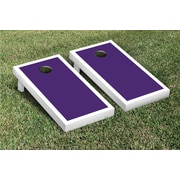 Victory Tailgate Border Matching Version 1 Cornhole Boards Game Set; White / Purple