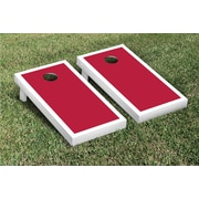 Victory Tailgate Border Matching Version 1 Cornhole Boards Game Set; Dark Red / White