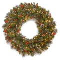 National Tree Co. Crestwood Spruce Pre-Lit 30'' Wreath with 50 Battery-Operated White LED Lights