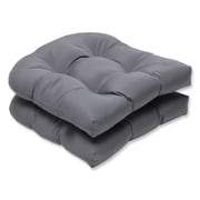 Pillow Perfect Outdoor Sunbrella Dining Chair Cushion (Set of 2); Charcoal