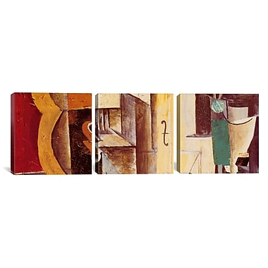 iCanvas Violin and Guitar by Pablo Picasso 3 Piece Painting Print on Wrapped Canvas Set