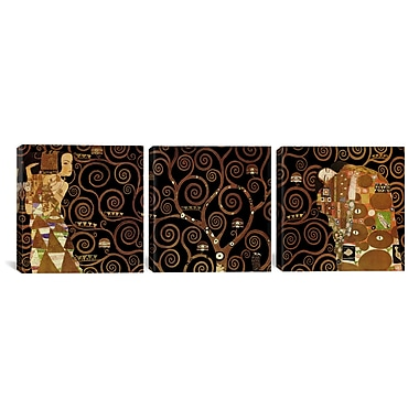 iCanvas The Tree of Life II by Gustav Klimt 3 Piece Graphic Art on Wrapped Canvas Set
