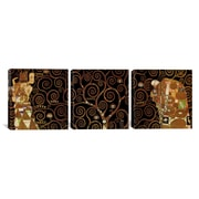 iCanvas Gustav Klimt The Tree of Life II 3 Piece on Wrapped Canvas Set; 12'' H x 36'' W x 1.5'' D