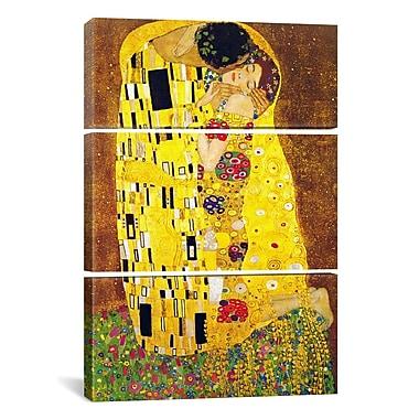 iCanvas Gustav Klimt The Kiss 3 Piece on Wrapped Canvas Set; 90'' H x 60'' W x 1.5'' D