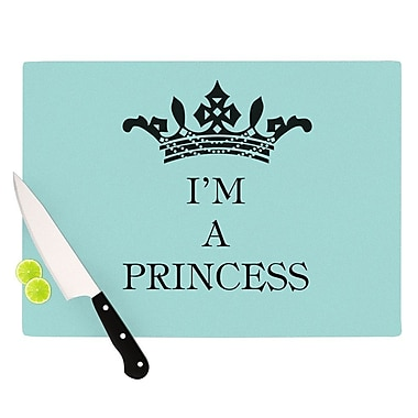KESS InHouse Im A Princess Cutting Board; 8.25'' H x 11.5'' W x 0.25'' D