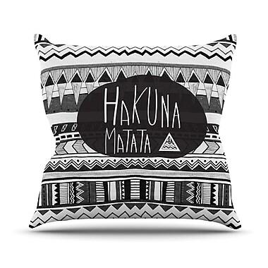 KESS InHouse Hakuna Matata Throw Pillow; 20'' H x 20'' W