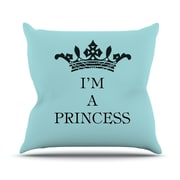 KESS InHouse Im A Princess Throw Pillow; 20'' H x 20'' W