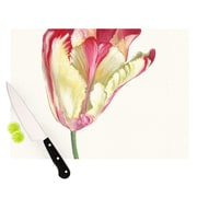 KESS InHouse Red Tip Tulip Cutting Board; 8.25'' H x 11.5'' W x 0.25'' D
