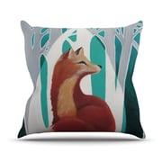 KESS InHouse Fox Forest Polyester Throw Pillow; 20'' H x 20'' W