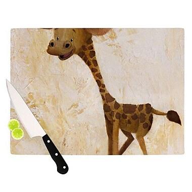 KESS InHouse Georgey The Giraffe Cutting Board; 11.5'' H x 15.75'' W x 0.15'' D