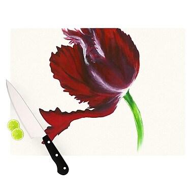 KESS InHouse Dark Purple Tulip Cutting Board; 8.25'' H x 11.5'' W x 0.25'' D